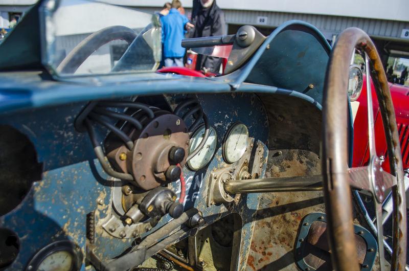 Dashboard On Abandoned Car