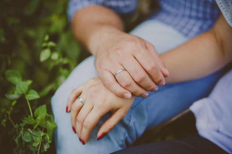 Adult Adults Only Bonding Close-up Couple Day Engagement Hand Hands Human Body Part Human Hand Indoors  Lifestyles Love Love Men People Real People Ring Rings Togetherness Two People Wedding Wedding Photography Women
