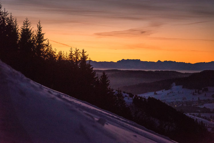 Beautiful winter condition in snowy Black Forest, Germany. What can you ask for? Germany Black Forest Winter Sunrise Nature Skiing Skitouring Berge Schwarzwald Baden-Württemberg  Mittelgebirge Mountain Sun Epic Outdoors Winter Sports Sport Sky Sonnenaufgang Dusk Warm Colors Cold Temperature Romantic Sky Panorama Hiking 17.62°