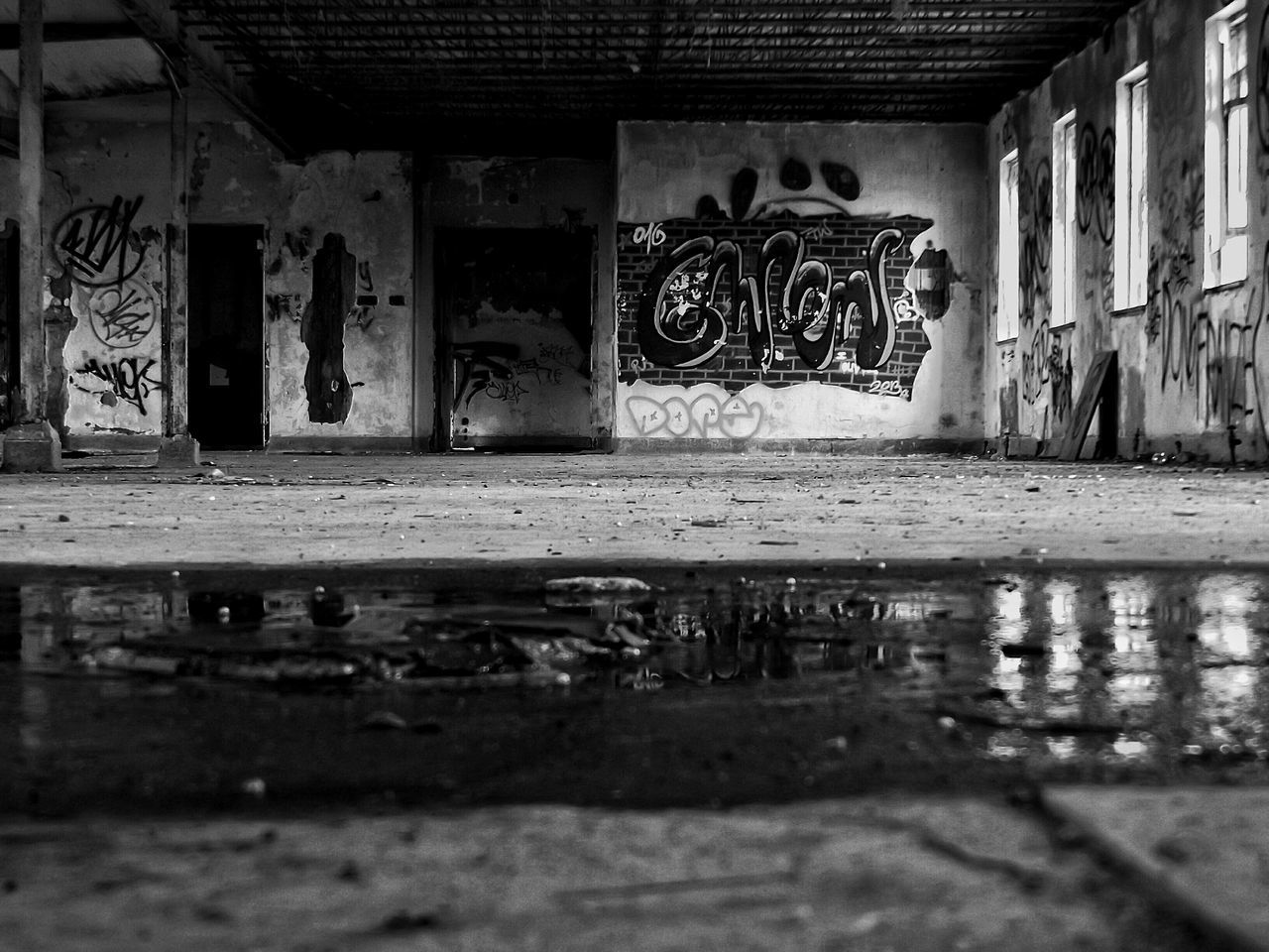 Graffiti In Abandoned Factory