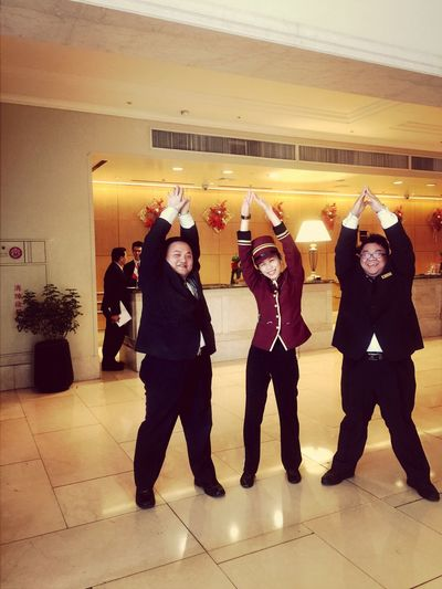 Team Working Funn y Smil e Thats Me  Taking Photos Happy People Happyday Girls In Unform  Uniform