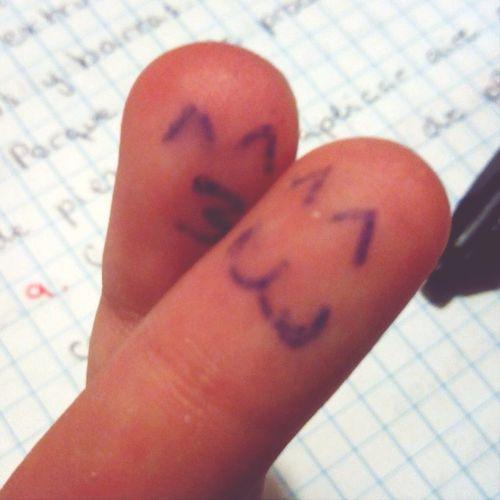 finger's love Paint Love Kiss