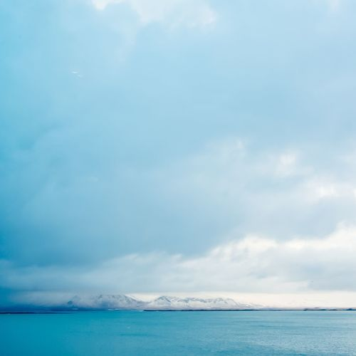 Dramatic horizons Cold Blue Water Blue View Iceland Square Mountains And Sky Tranquility Scenics Sea Sky Water Tranquil Scene Beauty In Nature Nature Day No People Cloud - Sky Outdoors Horizon Over Water