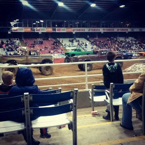 oh you know. Just watching monster trucks like a cool kid. Mudding Redneck Monster Trucks Yeahyuh