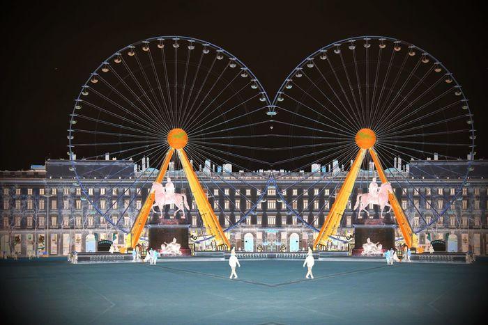 Onlylyon Lyon France Bellecour Doubleview Inverse Colors Lyonbellecourt