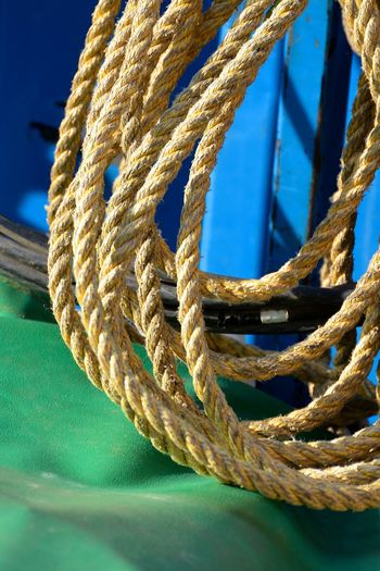 Close-up of yellow ropes