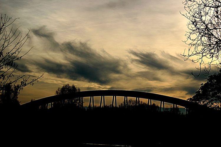 Ponte Tramonto Bridge Sunset Crema Giallo Contrast Contrasto Cream Ovale Oval Legno Wood Sera Evening Ovale Oval Cloud - Sky Outdoors