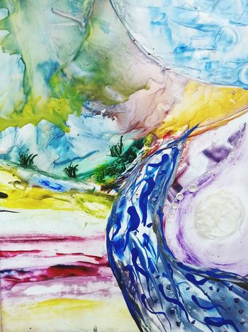 Artgallery Eyemgallery Art Gallery Encausticart Encaustic Peaceful View My Art, My Soul... SoulArt Spiritual Place Spirituality Artistic Eyemart Peace And Quiet Panorama Artistic Expression Color Portrait Colorful Painting Painteditmyself
