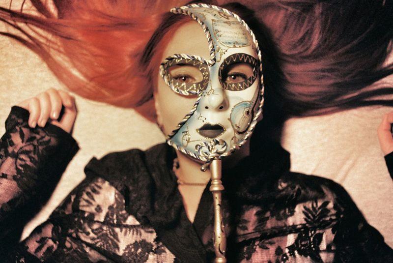 TheMask Mask Face Mask Gothic Gothic Fashion Fashion&love&beauty Eye4photography  Eye4colors EyeEmbestshots Red Head