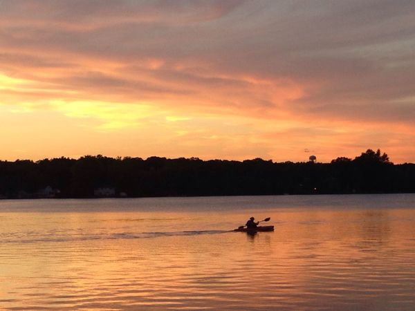 Belong Anywhere : sunset on the lake