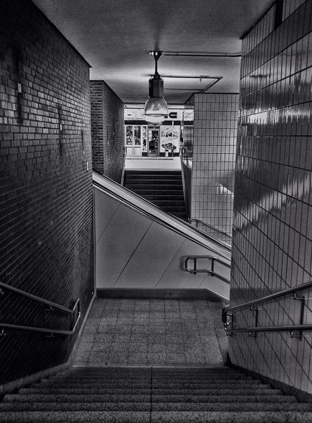 Subway Station Stairs Blackandwhite Stairway Black And White Stairways Light And Shadow Black & White EyeEm Best Shots - Black + White Jopesfotos - Urban