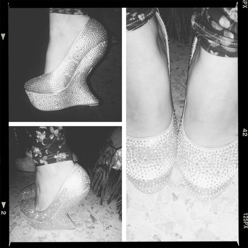 Shoes Taking Photos Hello World Silver Shoes ♥