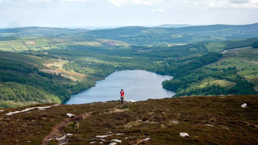 Lochdan Hills Mountains Wicklow Ireland Lake Landcape Hiking