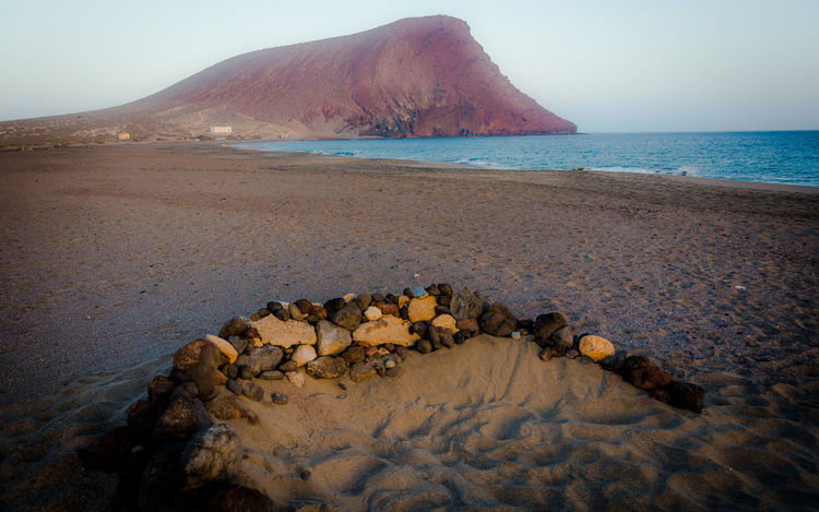 Sand Beach Montaña Roja SPAIN Spagna Canarie Canary Islands Beauty In Nature Day Water Sky Outdoors Tranquility Tenerife Sunset