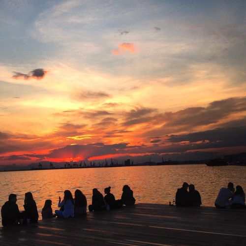 Thessaloniki Makedonia Greece Taking Photos Sunset Today Relaxing Nea Paralia Thessalonikis Thessaloniki Greece Omorfi Thessaloniki