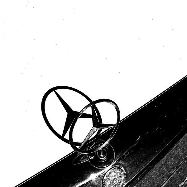 Sumbols. Close-up Car symbol Mercedes Mercedes-Benz
