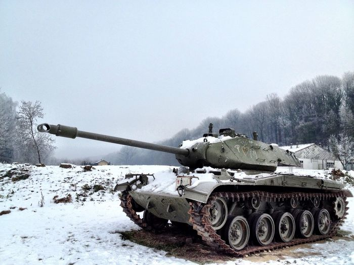 Military Tank In Winter