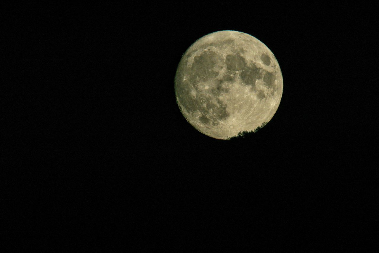 moon, space, night, astronomy, sky, planetary moon, beauty in nature, scenics - nature, copy space, moon surface, circle, geometric shape, tranquility, low angle view, shape, nature, no people, tranquil scene, full moon, clear sky, outdoors, dark, moonlight, space and astronomy