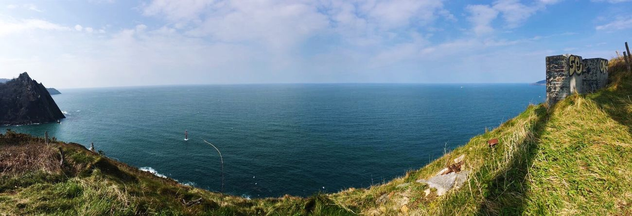 Paysbasque Sea And Sky Tranquility Panoramic Horizon Over Water I love norther Spain 🌅🍃 Nature