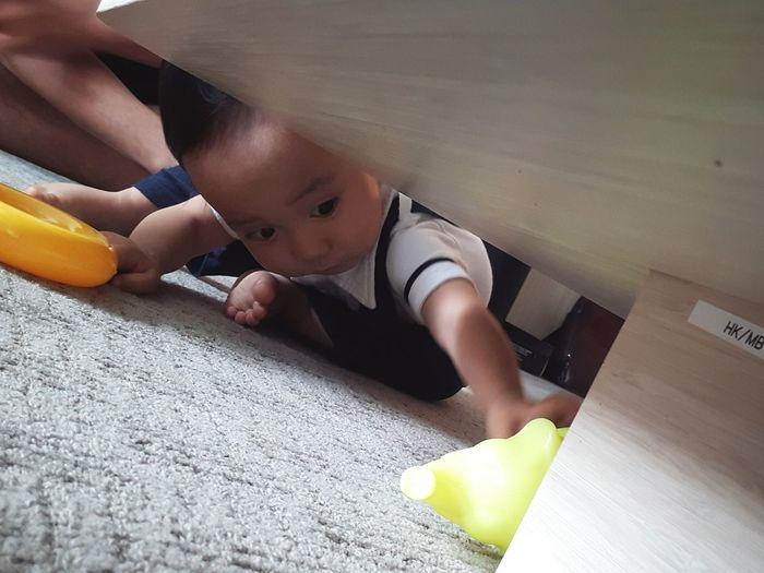 Baby Boy Playing Love Babyhood Happıness