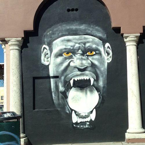 Wall art by my gmas house lmao Vampirelebron