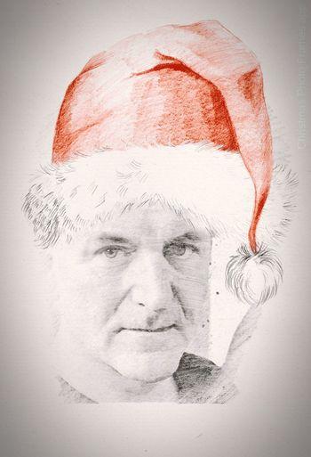 Vánoce Happy Cristmas Portrait Colored Coloring