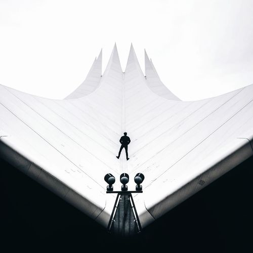 EyeEm Best Shots EyeEm Gallery Eye4photography  The Week on EyeEm One Person Architectural Column Shadow Shadows & Lights EyeEm Selects Futuristic One Man Only The Architect - 2018 EyeEm Awards Roof Weather Vane Spirituality Silhouette Navigational Compass Direction Religion Sky Architecture