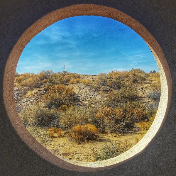 Indoors  Outdoors Southwest  New Mexico Hole Through The Window Hole In The Wall Albuquerque Getoutdoors Newmexico Divine_deserts Desert Desert Beauty Scenics Scenery Sky No People Day Nature