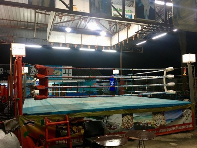 Thai Boxing  Indoors  Illuminated No People Boxing Ring Day Pool Ball
