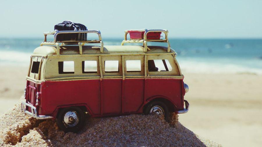Van Toy photography on the Beach Beach Toy Car Photography Vintage Cars Close Up Close-up Sand Blurred Background Beach Toy Photography Car Trunk EyeEm Selects Beach Sea Sand Sky Semi-truck Vintage Car Trucking Collector's Car Truck