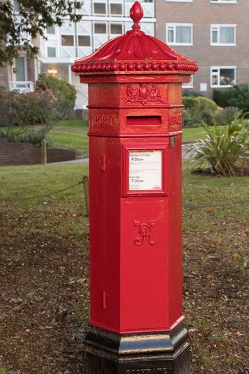 Traditional Penfold UK postbox Red Mailbox Communication Text Public Mailbox Mail Letter Retro Penfold Traditional