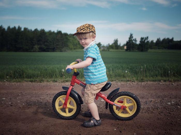 Beloved Bike Boy EyeEm Best Shots Summer Lifestyles Childhood Transportation Bicycle Child Land Casual Clothing One Person Leisure Activity Nature Land Vehicle The Portraitist - 2018 EyeEm Awards