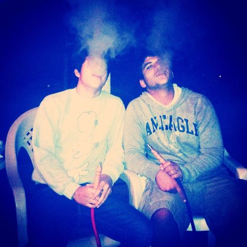 Hookah with my dude Ed.