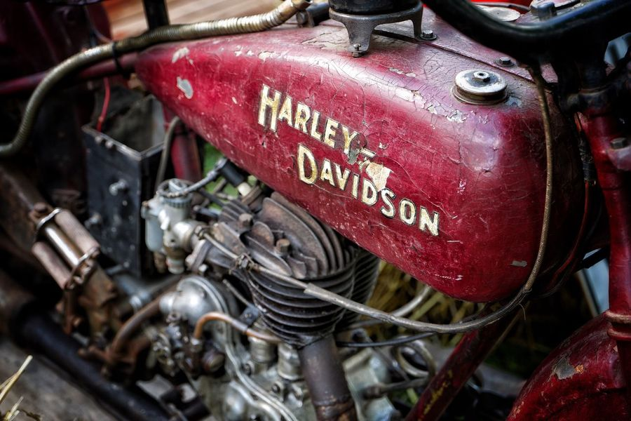 Harley Transportation Mode Of Transport Land Vehicle Car Text Red Communication Day Engine No People Vehicle Part Wheel Fire Engine Gauge Speedometer Outdoors Close-up