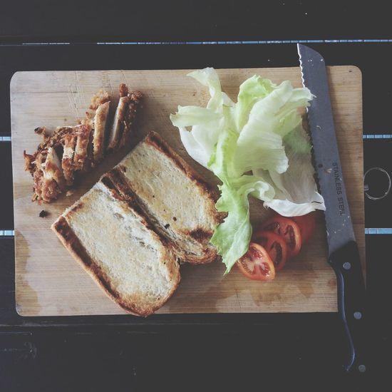 Good Morning Malaysia Foodporn Breakfast Chicken Bread Sandwiches