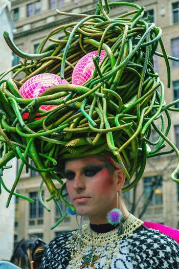 Big Hat Eggs Green Person Parade Costume Transgender Creative The Fashionist - 2015 EyeEm Awards