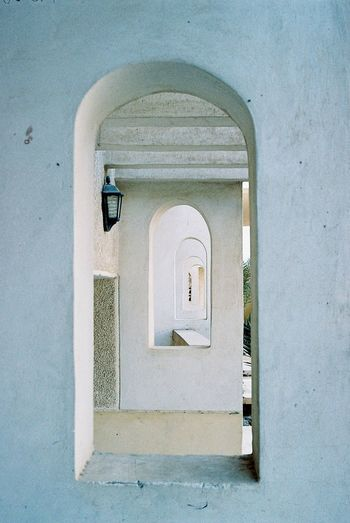 Film Arch Architectural Column Architecture Building Building Exterior Built Structure Closed Day Door Entrance Film Photography House No People Old Outdoors Protection Security Wall - Building Feature White White Color Window The Art Of Street Photography