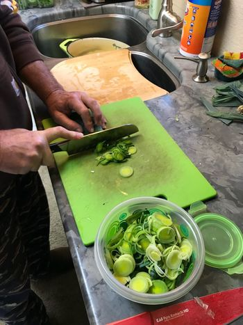 Every day cooking at home Hands Healthy Eating Preparation  Preparing Food Food And Drink Vegetable Freshness Human Hand Real People High Angle View Food Bowl Healthy Eating Human Body Part Indoors  Holding Cutting Board Day Table Kitchen Knife One Person Chopping