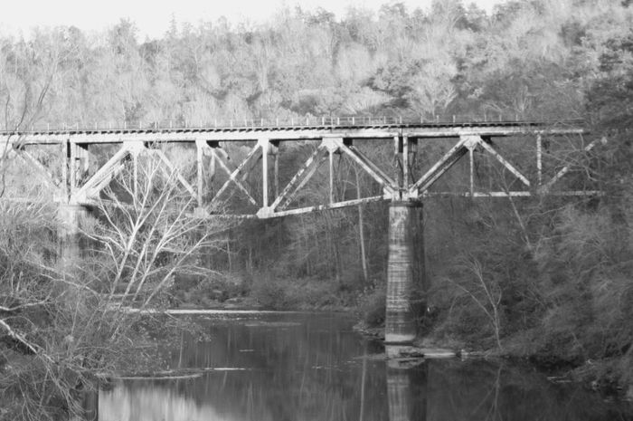 Outdoors Photography Eyeemnaturelover EyeEm Nature Lover Protecting Where We Play Sweet Home Alabama Eyeemphotography Cullman, AL Outdoor Photography Water_collection Mulberry River Picture Doesnt Do It Justice Passionforphotography Alabama Mullberry Steel Bridgeporn EyeEm Trainbridges Trainbridge Oldtrainbridge Steel Structure  Water Tree Bridge - Man Made Structure Built Structure Architecture Reflection River Bridge No People Railing