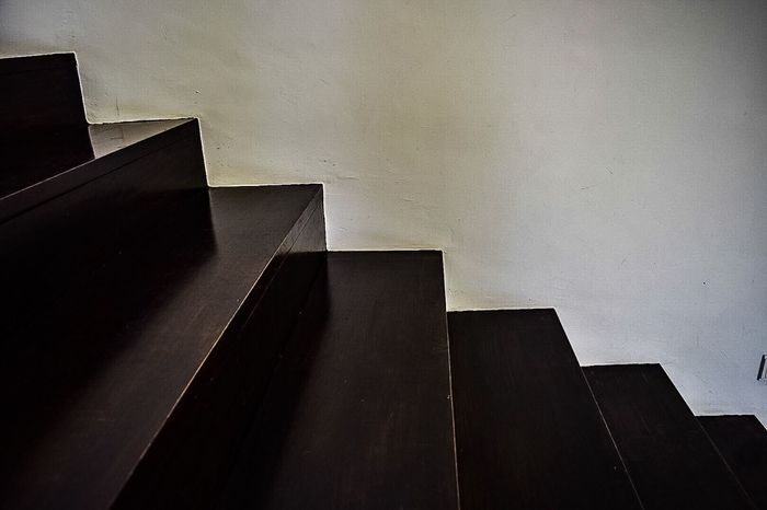 Monochrome Photography Steps And Staircases Indoors  Modern Steps Stairs Geometric Shape Architectural Wall Staircase Angle Concepts TakeoverContrast Maximum Closeness