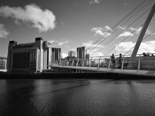 Architecture City Skyscraper Travel Destinations Urban Skyline Building Exterior Built Structure Sky Cityscape Outdoors Modern Bridge - Man Made Structure River Cloud - Sky City Life No People Day Sage Gateshead Downtown District Office Building Exterior