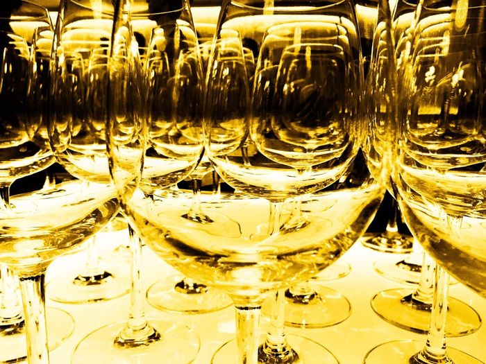 Paint The Town Yellow Gold Colored yellow Celebration Wineglass