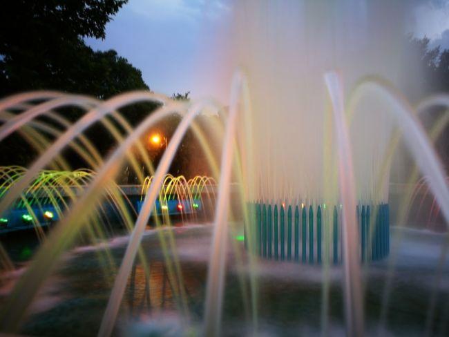 Fountain Water Glowing Wate Speed Photography EyeEmNewHere