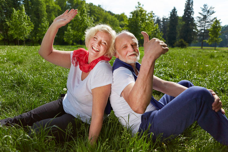 Senior Couple Enjoying At Park