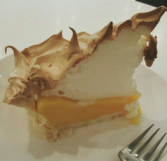 Close up look...this is too good..perfection ! Yummy So Yummy Afternoon Coffee Lemon Meringue Pie  My Favorite  Happy :)