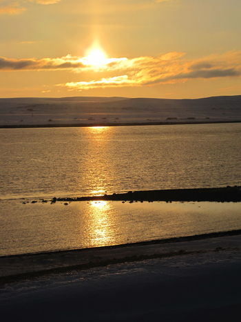 Beautiful Iceland 🌏 https://youtu.be/SVPm5lgox78 Sunset Orange Color Silhouette No People Beautiful Nature Romantic Landscape Reflection Iceland So Beautiful  In Your Arms The Moment Deep Feeling Reflections In The Water Sunbeam