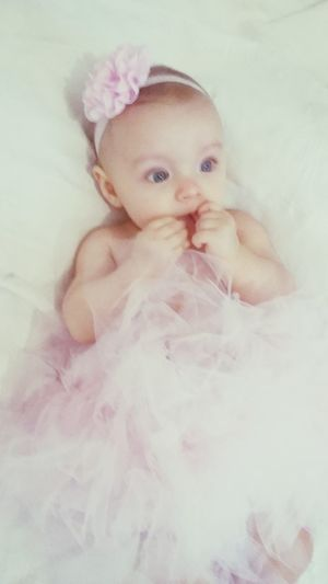 Hi! Hello World Tutu Princess Pink Jolie MyPrincess Beautiful My Child Hello World Blanc