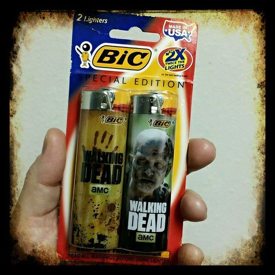 I just had to have these! This will be put in my curio cabinet. Thewalkingdead Thewalkingdeadamc Bic Flickmybic Flickyourbic Specialedition Lighters Collectorsitems Ilovethewalkingdead Cellphonephotography Pixelmixer Pixlr Portorchardwashington Samsunggalaxynote3