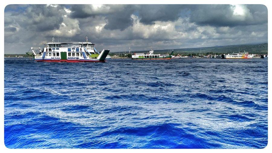 Penyebrangan jawa-bali Sea Outdoors Transportation Water Day Sky Cloud - Sky No People Harbor Beach Oil Pump Exploreindonesia What Do You Think? Latepost Mylivemyadventure