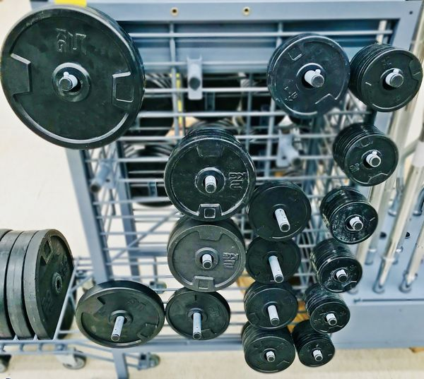Barbell Plate Close-up Indoors  Machine Part Metal No People Plate Number Sport